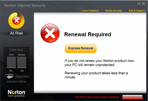 norton notification