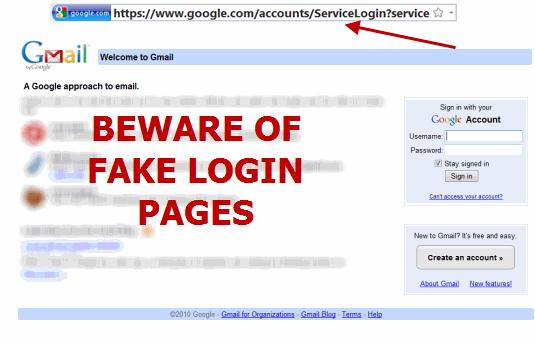 gmail-fake-login-pages